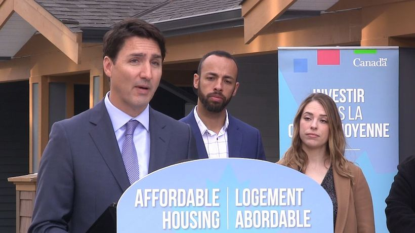 Prime Minister Justin Trudeau touts efforts by the Liberal government to help first-time homebuyers