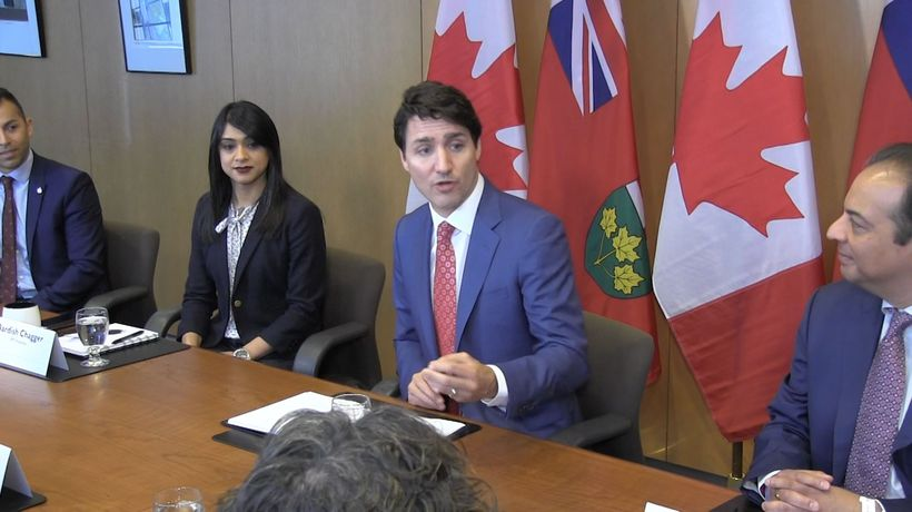 Prime Minister Justin Trudeau meets with local mayors in Waterloo Region