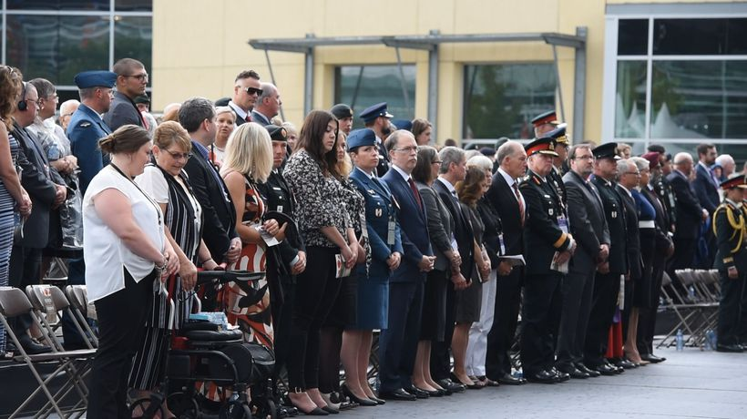 Emotions flow during ceremony to honour Canadians killed in Afghanistan War