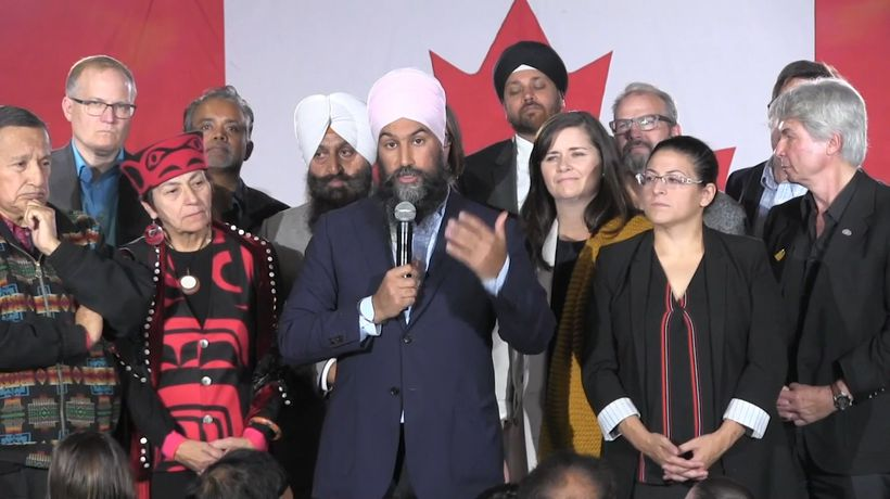 Singh says he'd form coalition to stop Tories as Trudeau pushes strategic voting