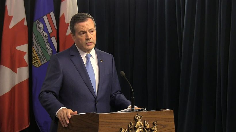 Alberta Premier Jason Kenney reacts to federal election results.