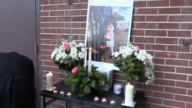 Mourners gather at vigil for 2-year-old killed by falling A/C unit