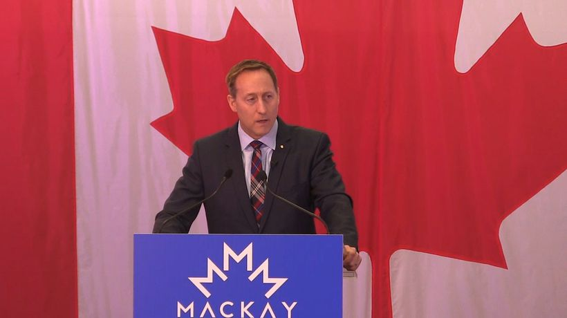 Former cabinet minister Peter MacKay announces Tory leadership bid