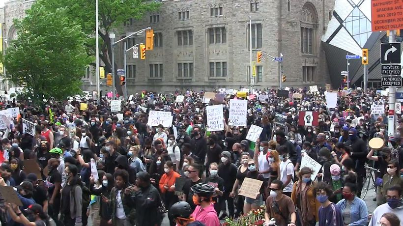 Protesters rally against anti-black, Indigenous racism in Toronto