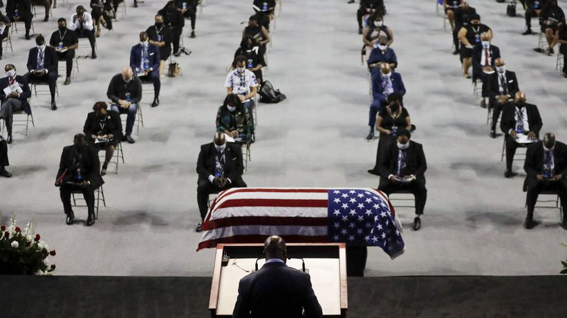 A final goodbye to American civil rights leader Rep. John Lewis