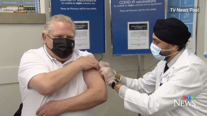 Ontario Premier Ford receives first dose of COVID vaccine