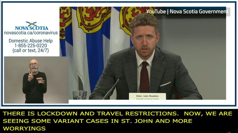 Nova Scotia Premier to reimpose travel restrictions at boundary with New Brunswick