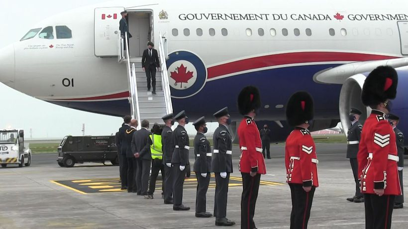 Trudeau arrives in England ahead of G7 summit
