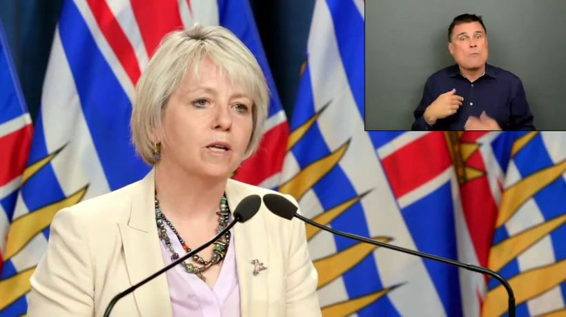 Data shows COVID-19 rates dropping: B.C. top doctor