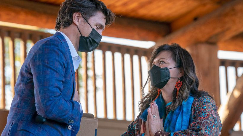 Trudeau calls on all Canadians to take action on reconciliation during Kamloops, B.C., visit