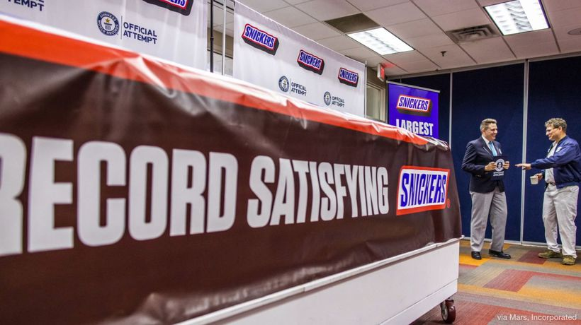 Snickers Breaks Record for World's Largest Chocolate Nut Bar