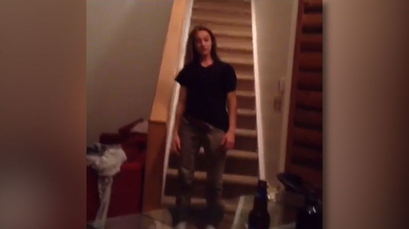 'Walking' down the stairs like a pro