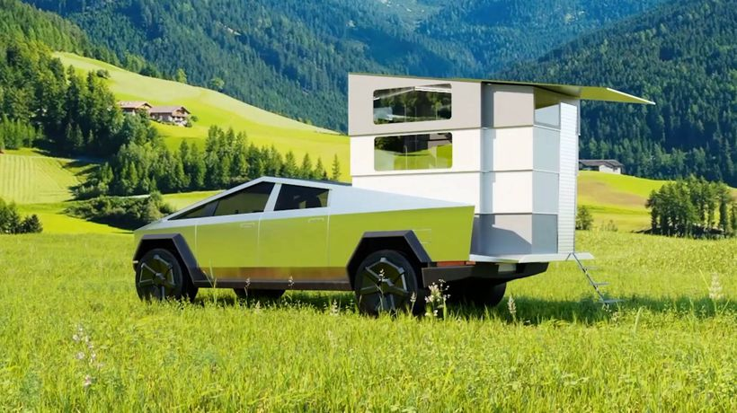CyberLandr Turns Your Tesla Cybertruck Into a Camping Vehicle