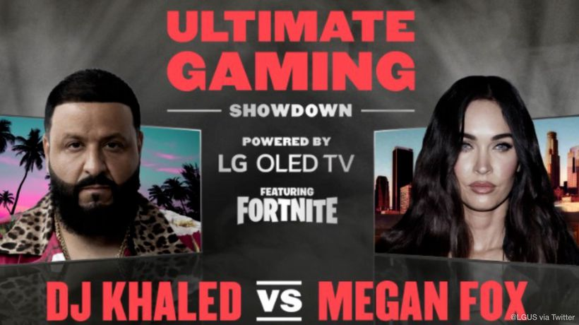 DJ Khaled to battle Megan Fox in livestreamed Fortnite match