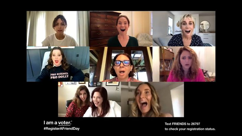 Bridesmaids cast reunited to promote Register A Friend Day