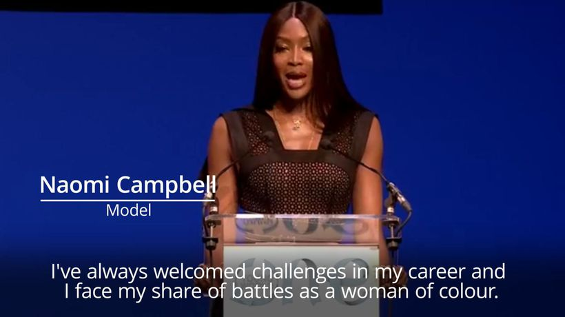 Naomi Campbell tells One Young World forum more change is needed