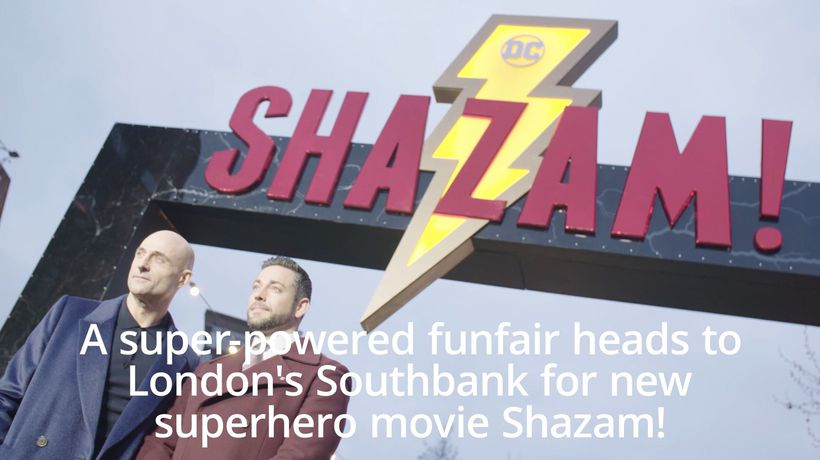 Shazam! Super-powered funfair opens on London's Southbank