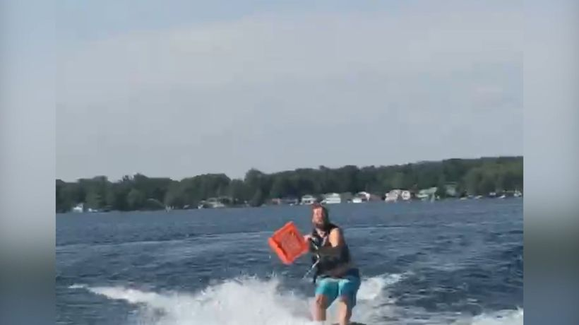 Best water skiing challenge ever!