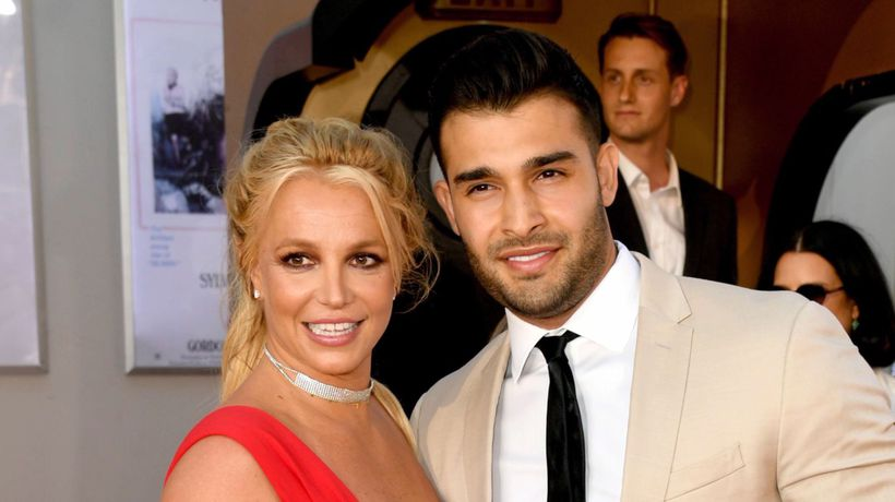 Britney Spears and boyfriend Sam Asghari make red carpet debut