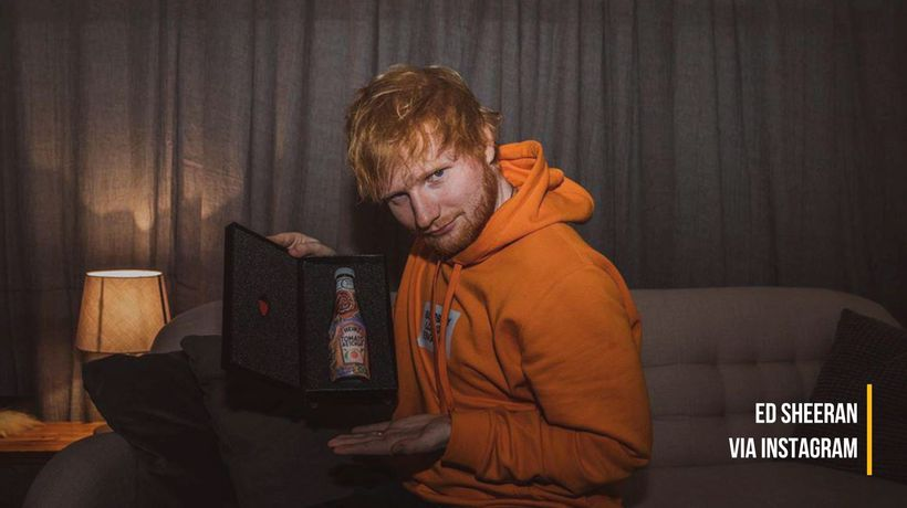 Ed Sheeran raises over $4000 for charity with signature ketchup bottle auction