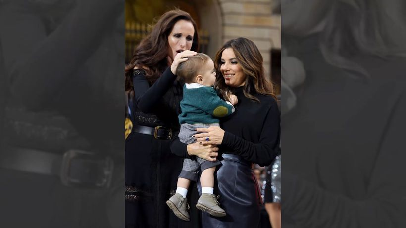 Eva Longoria teaching her son the importance of giving back
