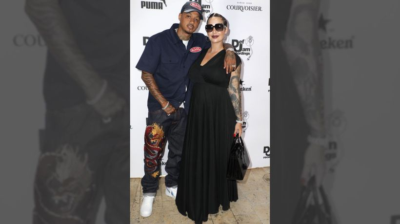 Amber Rose chooses rock star name for newborn son