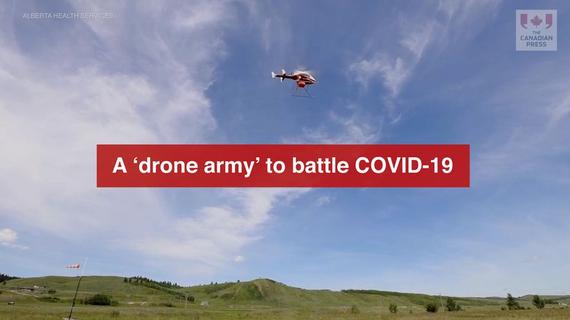 A 'drone army' to battle COVID-19