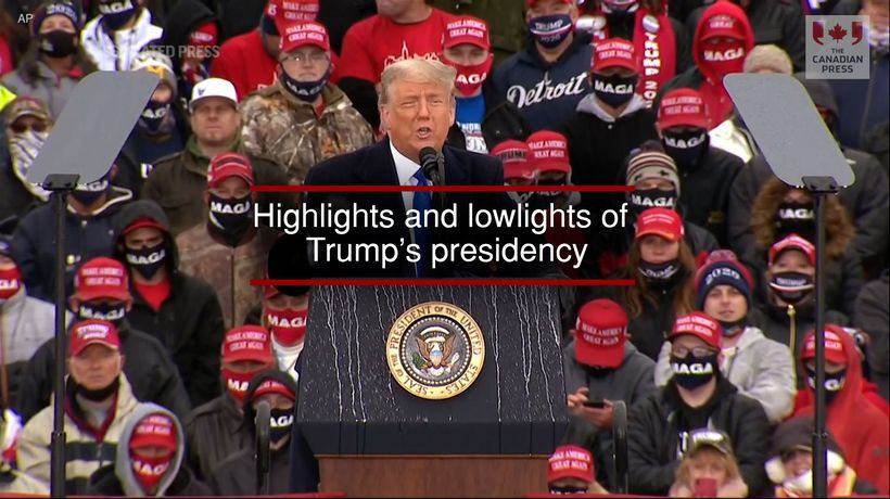 Highlights and lowlights of Trump's presidency