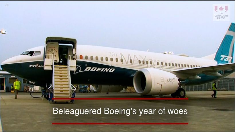 Beleaguered Boeing's year of woes