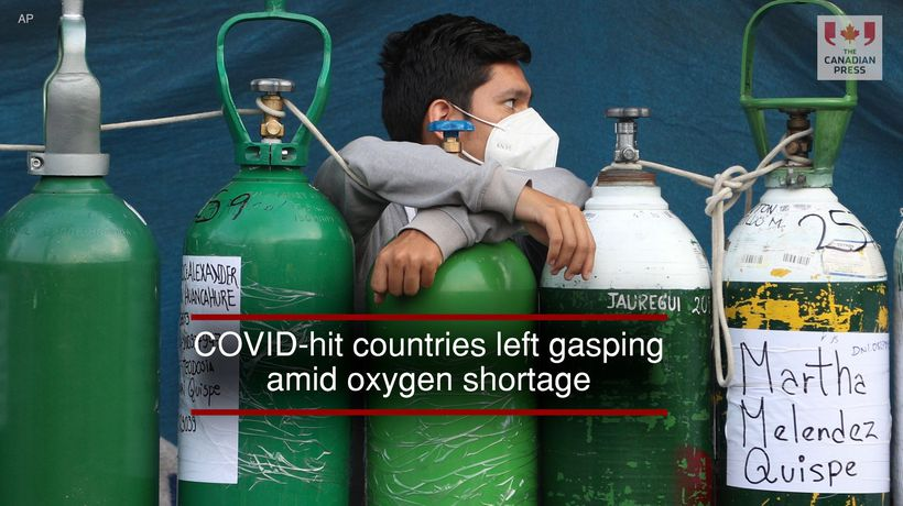 COVID-hit countries left gasping amid oxygen shortage