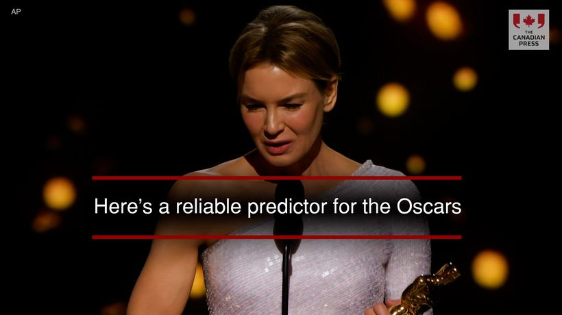 Here's a reliable predictor for the Oscars