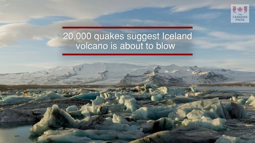 20000 quakes suggest Iceland volcano is about to blow