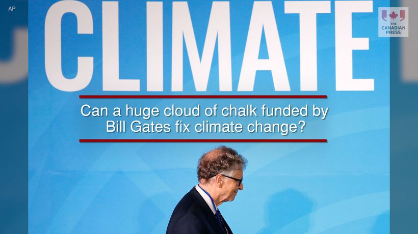 Can a huge cloud of chalk funded by Bill Gates fix climate change?