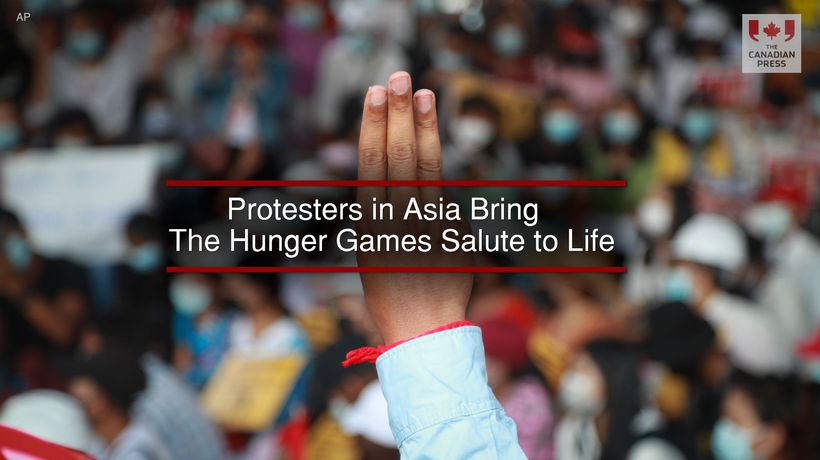 Protesters in Asia Bring The Hunger Games Salute to Life