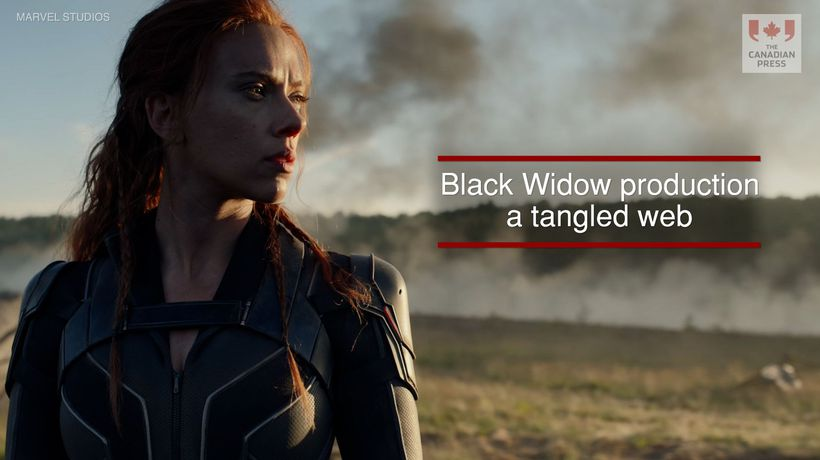 Black Widow production a tangled web