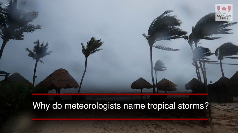 Why do meteorologists name tropical storms?