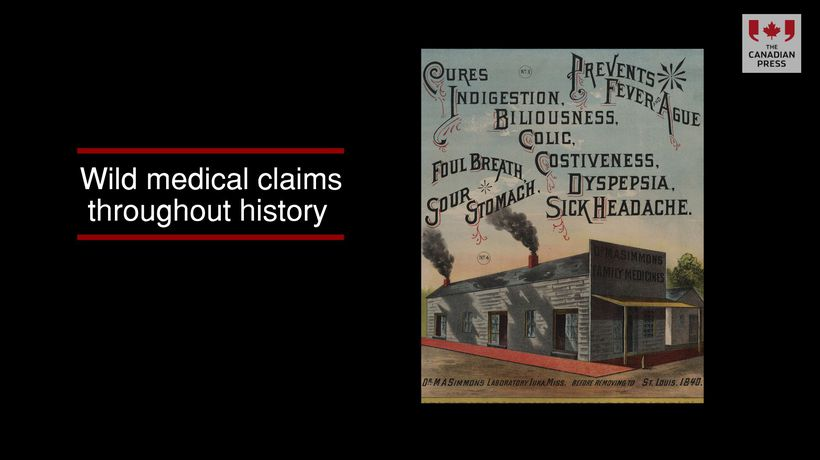 Wild medical claims throughout history
