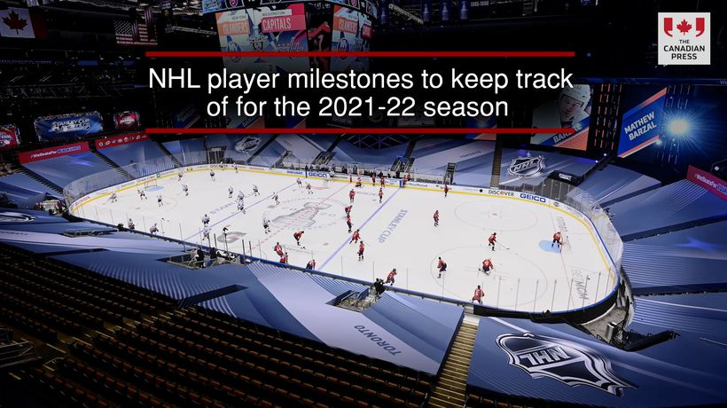 NHL player milestones to keep track of for the 2021-22 season