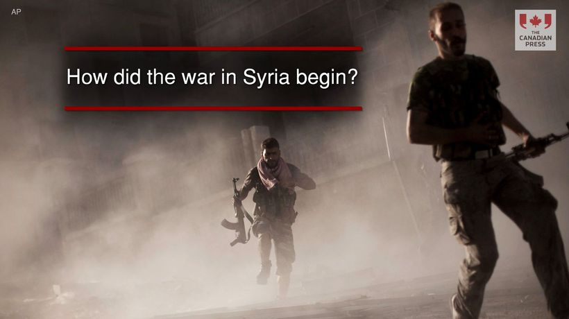 How did the war in Syria begin?