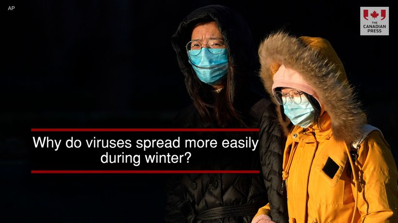 Why do viruses spread more easily during winter?
