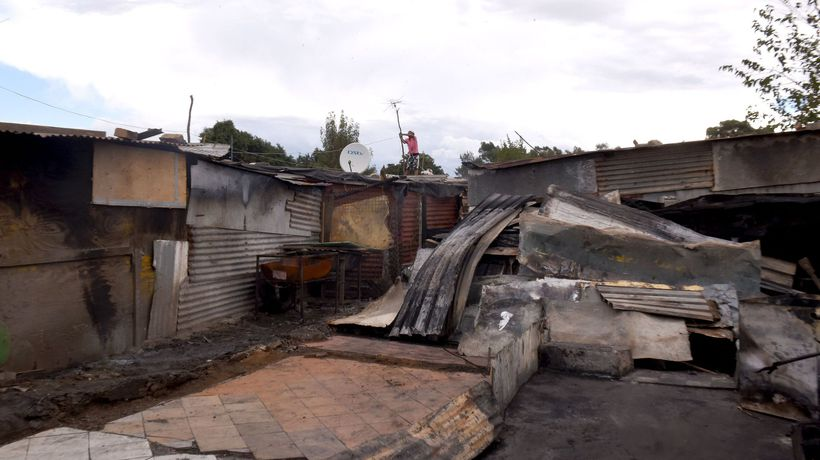 Shack burns in the Good Hope informal settlement, killing two.