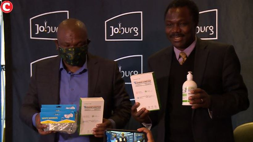 Joburg Mayor receives protective equipment from UNDP in fight against Covid-19