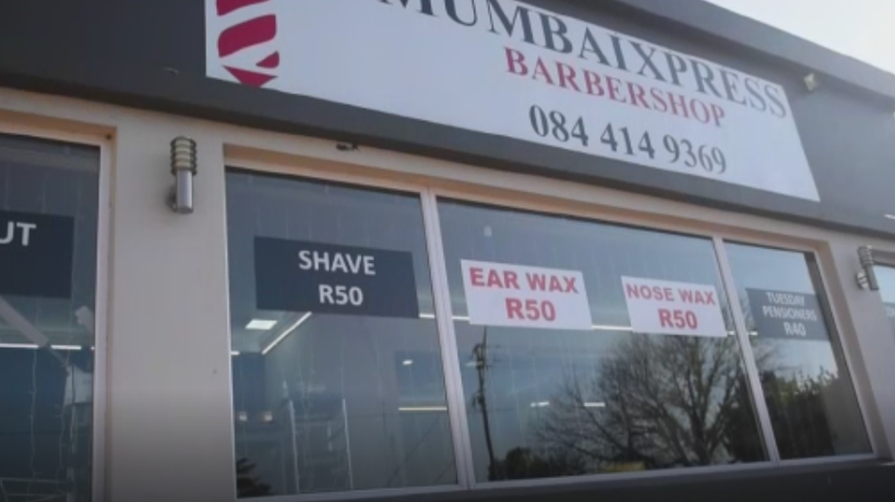 Extreme measures have been put in place at Mumbai barbershop in Parkhust, Johannesburg