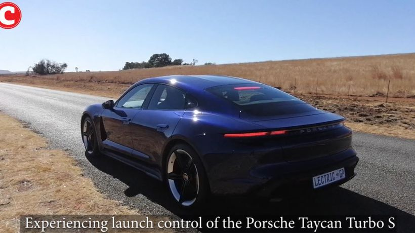 Experiencing launch control of the Porsche Taycan Turbo S