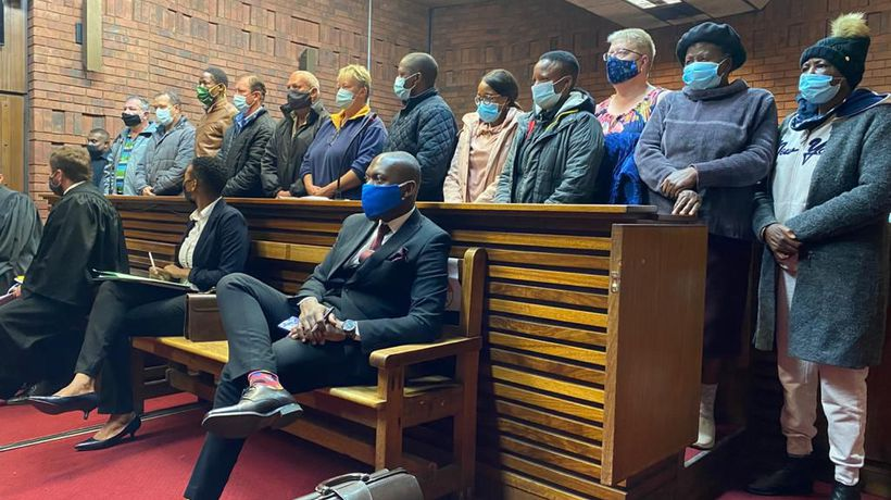 Fifteen people appeared at the Pretoria Magistrates Court for bail hearing earlier this morning