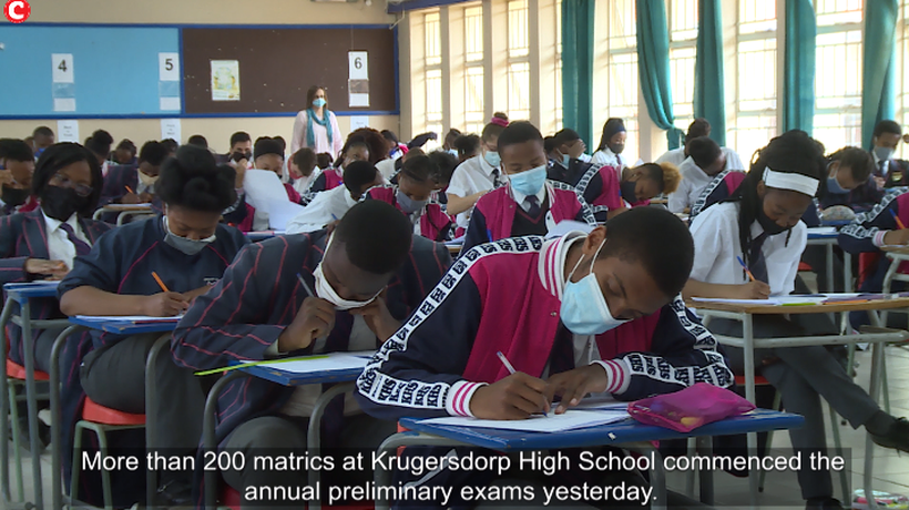 More than 200 matrics at Krugersdorp High School commenced the annual preliminary exams yesterday.