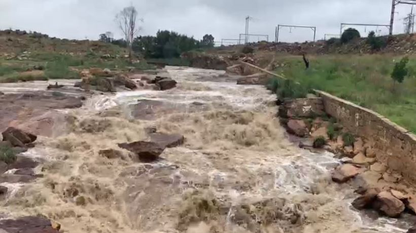 Rivers in Soweto are close to over flowing due to recent rains
