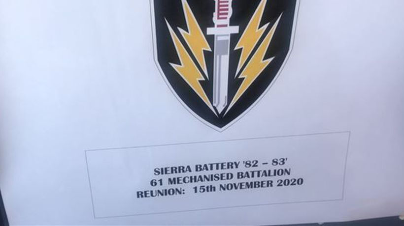 A reunion and remembrance event of 61 Mech battalion that fought in Angola in 1983.