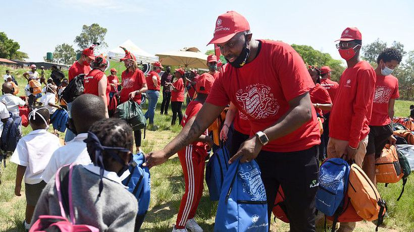 The Steyn City Foundation spread happiness among Diepsloot's primary school learners.