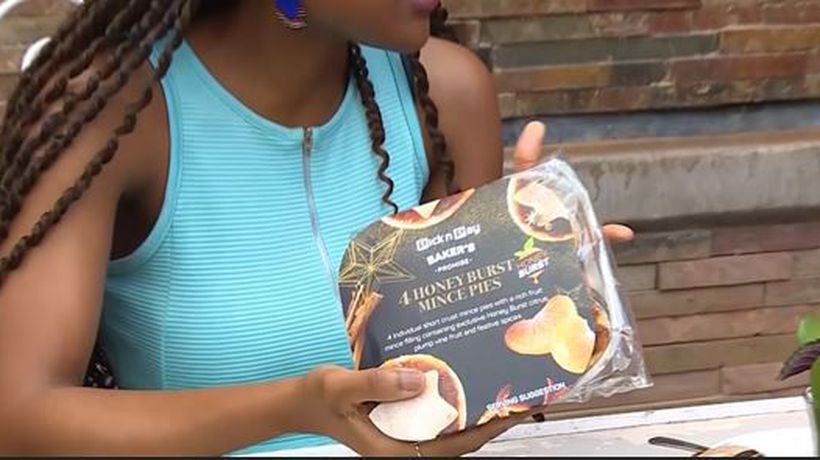 Our Countdown to Christmas, we did our first ever on-camera review of the yummy fruit mince pie.
